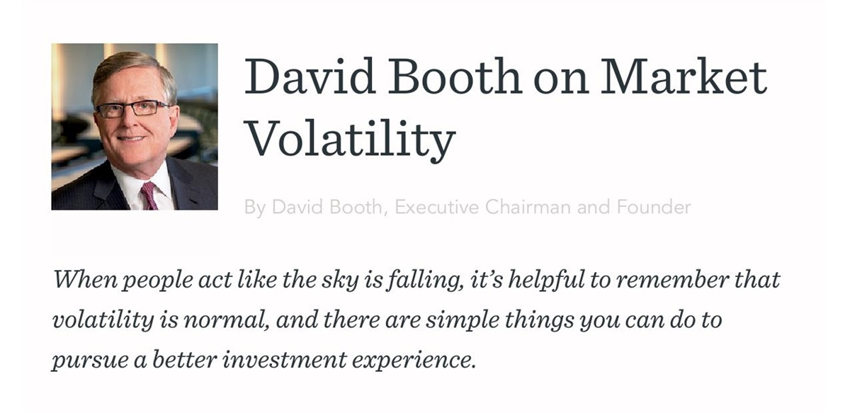 DFA Founder on Market Volatility