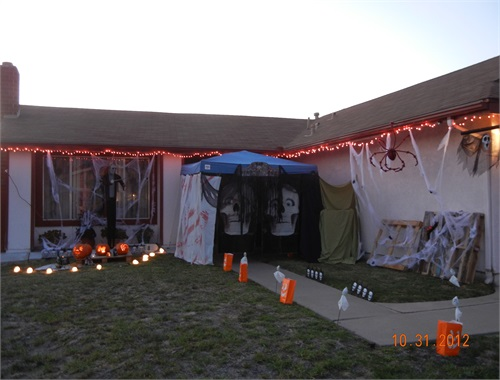 The very first Salem Haunts Tent.  Full Yard Display