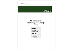Alternatives to Borrowing for College