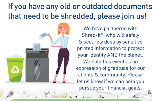 Join Us for Our 1st Annual SHRED-A-THON!