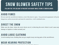 Snow Blower Safety Tips [Handout Included]