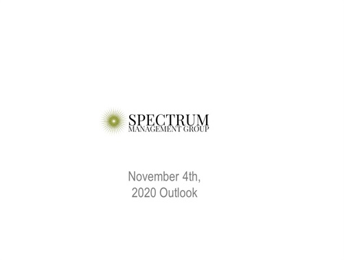 Spectrum Management Group Quarterly Update - 11/4/2020