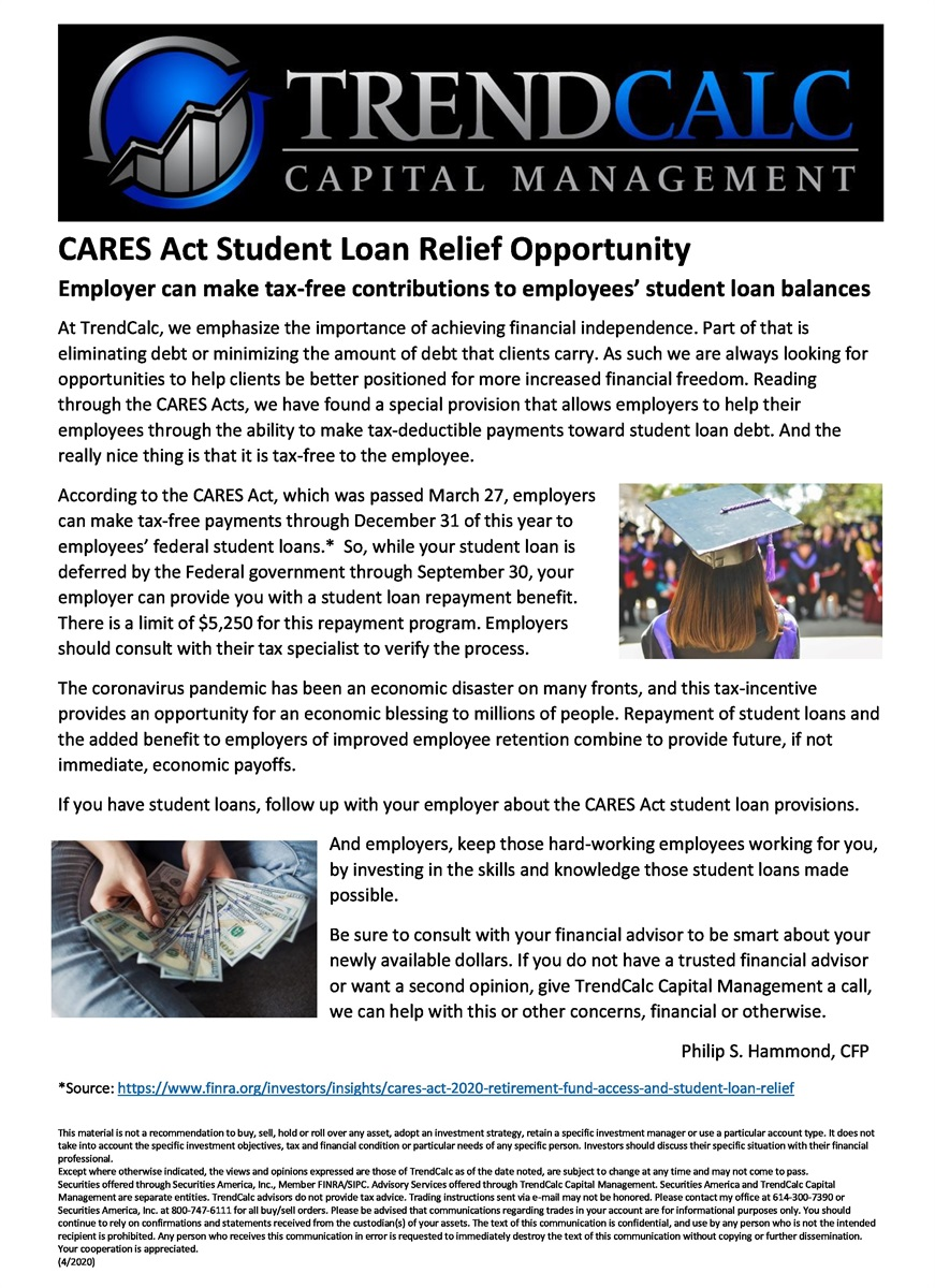 CARES Act and Student Loans