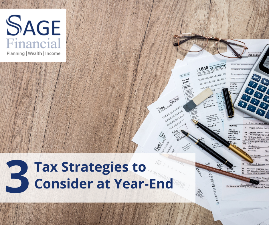 3 Tax Strategies to Consider at Year-End