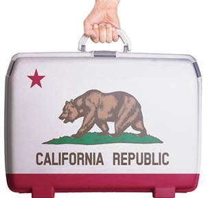 California Suitcase - People and Businesses Leaving California