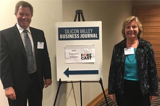Elaine and Scott attend 2016 Economic Forecast for Silicon Valley