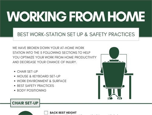 Working From Home: Best Safety Practices [Info-Graph]