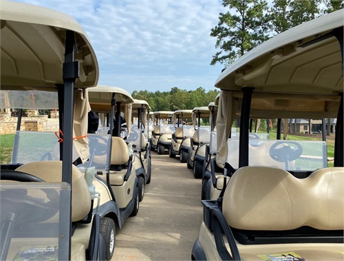 Golf carts are ready!