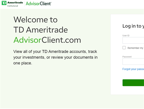 AdvisorClient by TD Ameritrade
