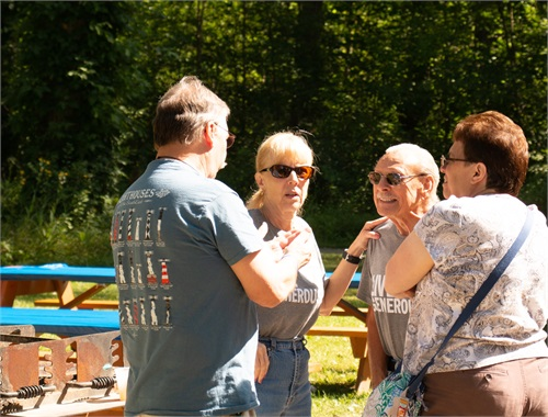Whether it was a spot in the sun or under the shelter, picnic goers found plenty of opportunities to gather in groups and reconnect.