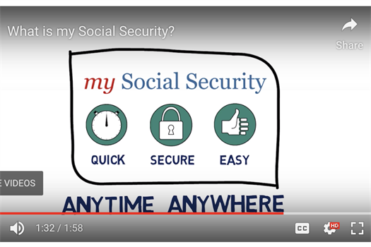 "Create Your Secure ""my Social Security"" Account"