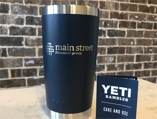 A free Yeti Rambler to all our customers who refer a friend or family member!