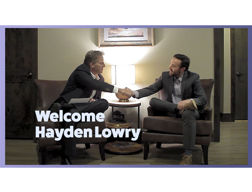 Introducing: Hayden Lowry