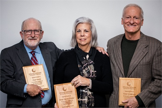 Long-time supporters recognized at Growing Through Literacy Breakfast