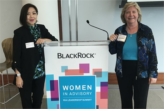 Elaine and Linda Attend the BlackRock Women's Summit