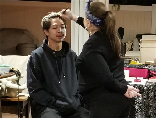 Actor DMNTD first to get his make up done