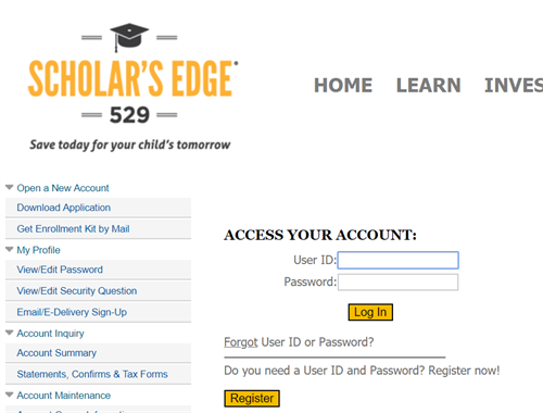 New Mexico Scholars Edge 529 Account Access