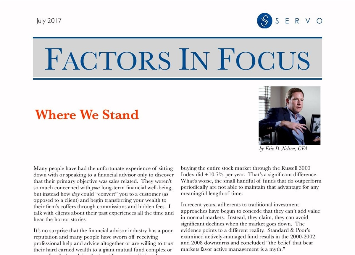 July's Factors In Focus