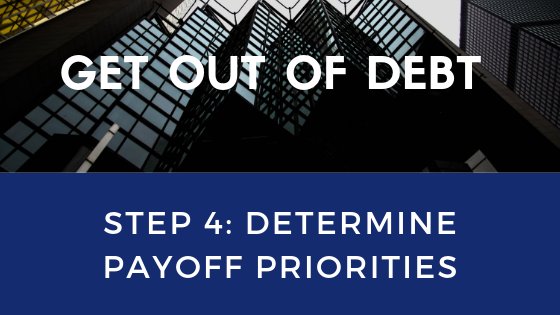 Get Out of Debt Step 4: Determine payoff priorities