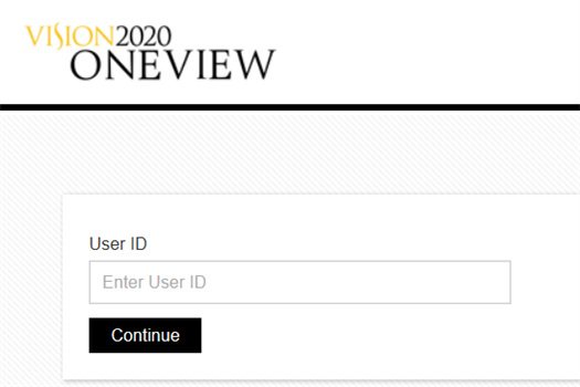 OneView V2020 Login