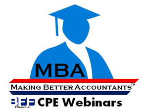 "BFF's ""Making Better Accountants"" Webinar Series"
