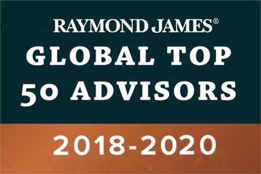 2018 - 2020 Gordon Wollman Raymond James Global Top 50 Advisors