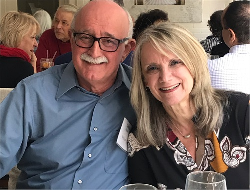 David and Susan Hulse at a client luncheon.