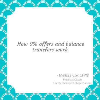 Melissa Cox CFP explains how balance transfers work.