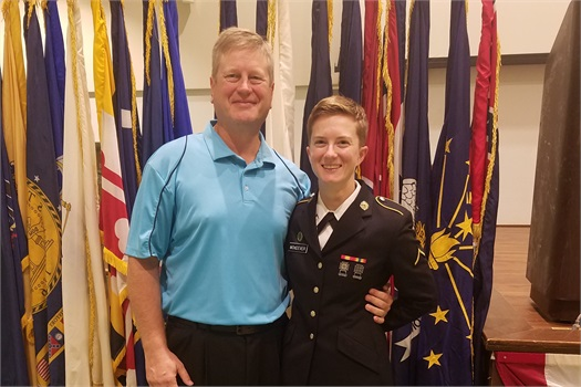 Scott and Katie McKeever, Iowa National Guard member