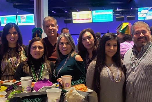 Falconsure employees bonding at Bowling Event