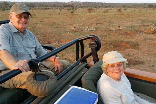 Bucket List! Dick and Coradee on an African safari.