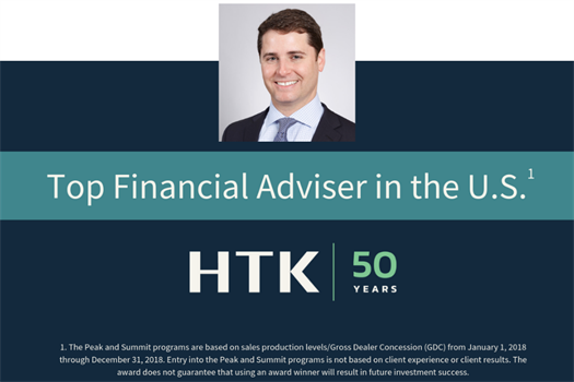 Lawrence Elie Borger, J.D. Recognized as Top Financial Adviser in the U.S. by HTK