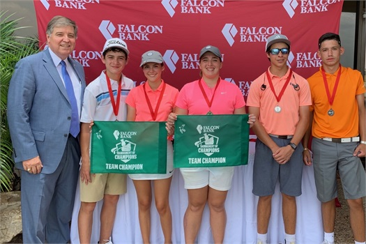 Falcon Bank sponsored Laredo Jr. Golf Association Tournament at Laredo Country Club!