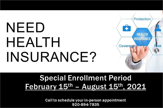 Now Available!&#160;<br /><br />Affordable Care Act's Special Enrollment Period&#160;for health insurance. February 15th through August 15th.