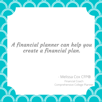 Melissa Cox CFP works with clients to develop customized financial plans for a healthy financial future.