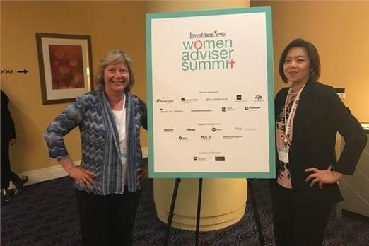 Elaine and Linda attend Women Adviser Summit