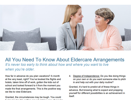 All You Need To Know About Elder Care