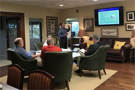 Larry Walck presented Medicare updates for 2018-2019. Everyone took home a workbook after the in-depth presentation. This is an annual event and is held every fall!