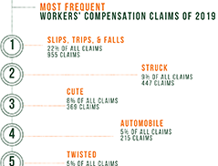 Most Frequent & Costly Claims of 2019
