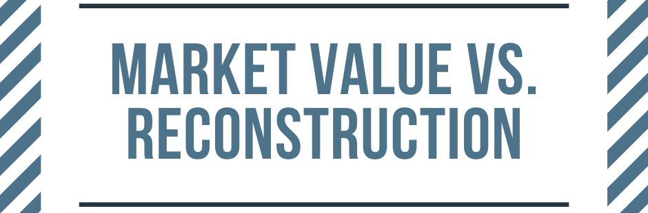 Market Value vs. Reconstruction Value