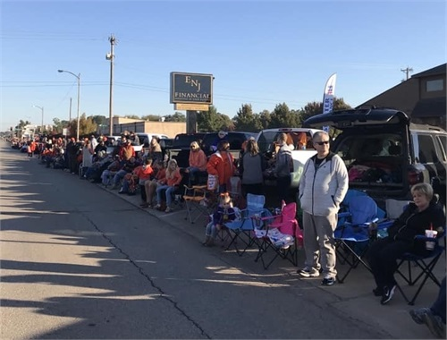 The ENJ Stillwater office is the perfect place to watch OSU game day parades!