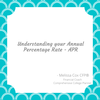 Melissa Cox CFP explains the concept of the APR.