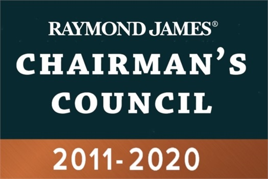 2011 - 2020 Gordon Wollman Raymond James Chairman's Council