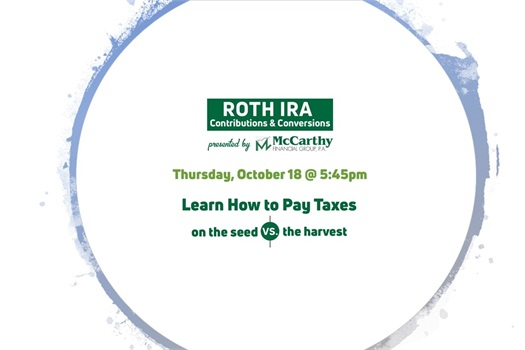 Learn about ROTH IRA's, Your Invited!