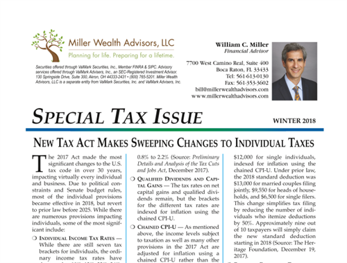 Special Tax Issue