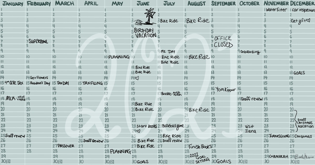 Create a Master Calendar and Get Moving in the Right Direction