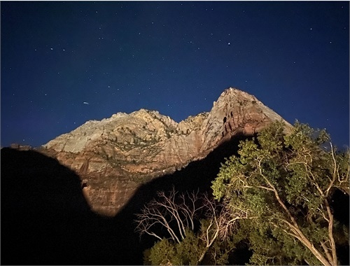 Zion National Park... using my iPhone at night - first time.
