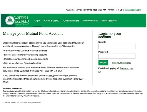 <strong>Mutual Fund Account Access</strong>
