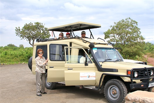 Ann and family on a Tanzania safari adventure.