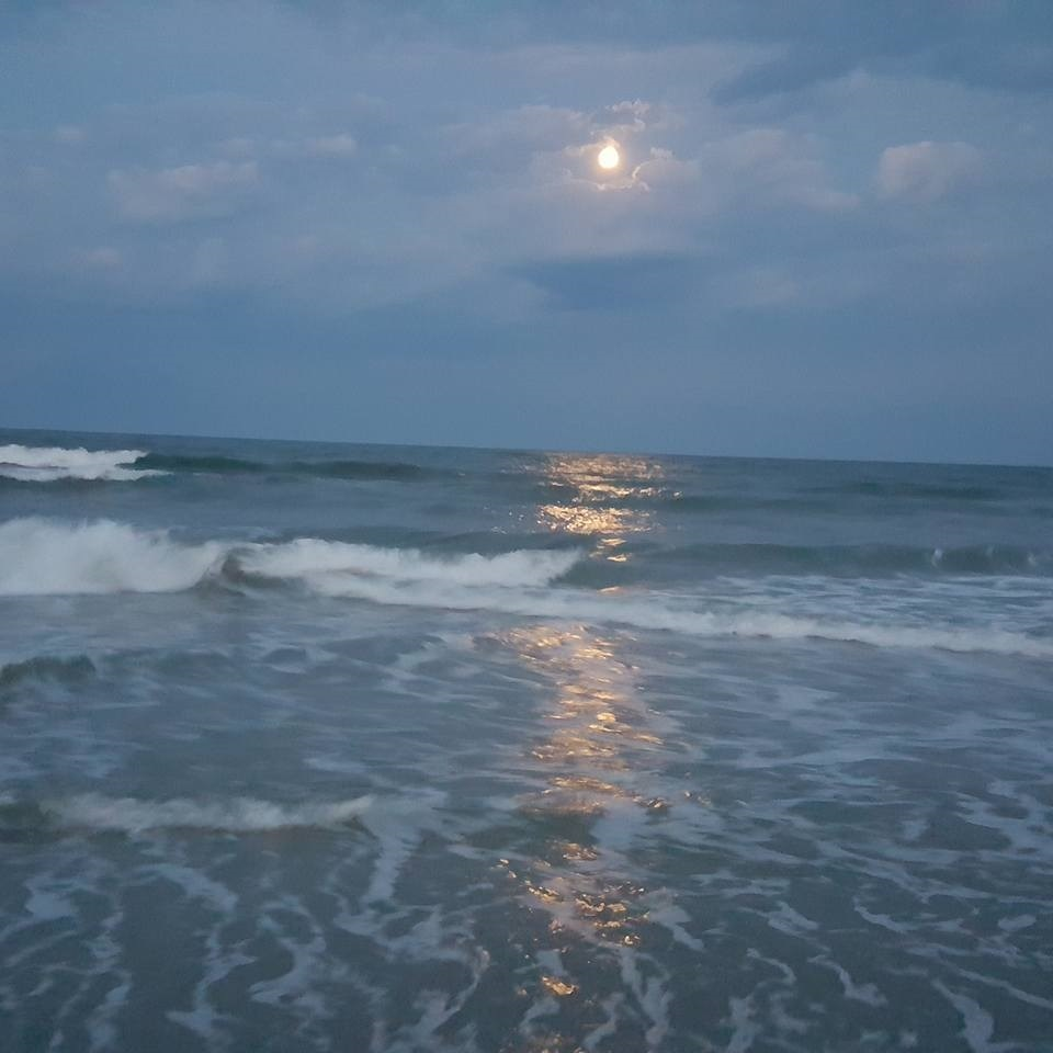 Moonlight on Stone Harbor Beach